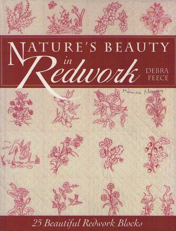 Nature Beauty in Redwork