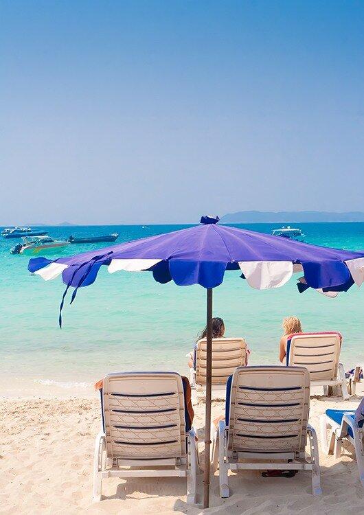 Жесткое солнце в Тайланде. Жара. Пляж