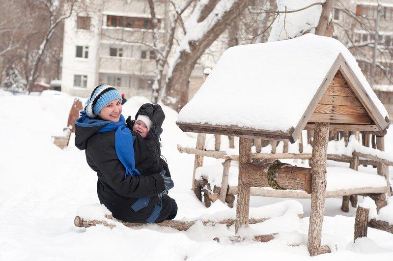 Мама Таня с сыном Сашкой, г. Самара