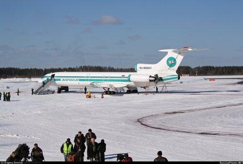 ТУ-154М RA-85684 в аэропорту Ухта