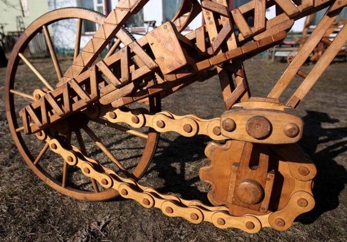 Когда водопроводчику скучно, он делает деревянные велосипеды 0_8a3b8_b216340b_XL
