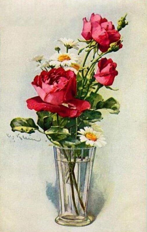 К. Кляйн. Розы и ромашки.