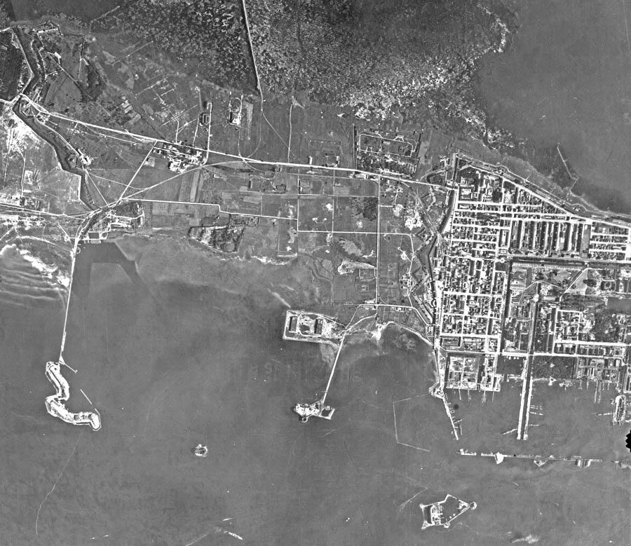 Аэрофотосьемка острова немецкими летчиками времен ВОВ