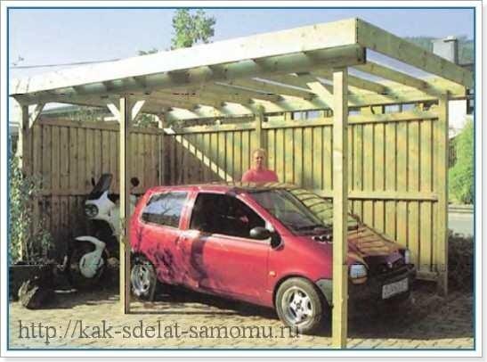 Как сделать деревянный гараж своими руками