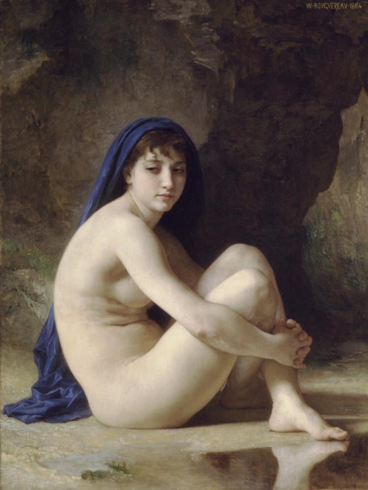 Бугеро, Сидящая обнажённая, 1884 г.