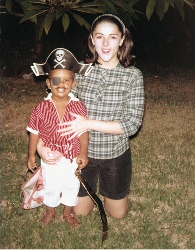 Barack Obama and his mother