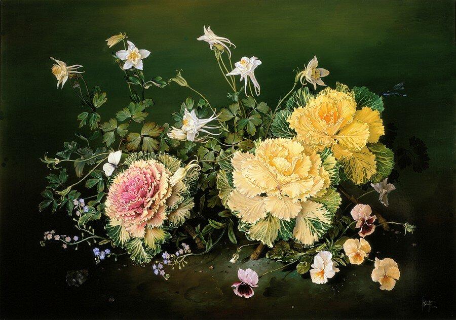 Красивые букеты цветов живопись