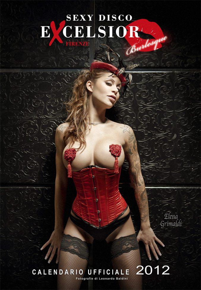 Эротический календарь ресторана Sexy Disco Excelsior Florence на 2012 год.