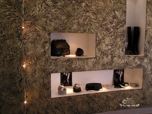 фактурная декоративная штукатурка в интерьере