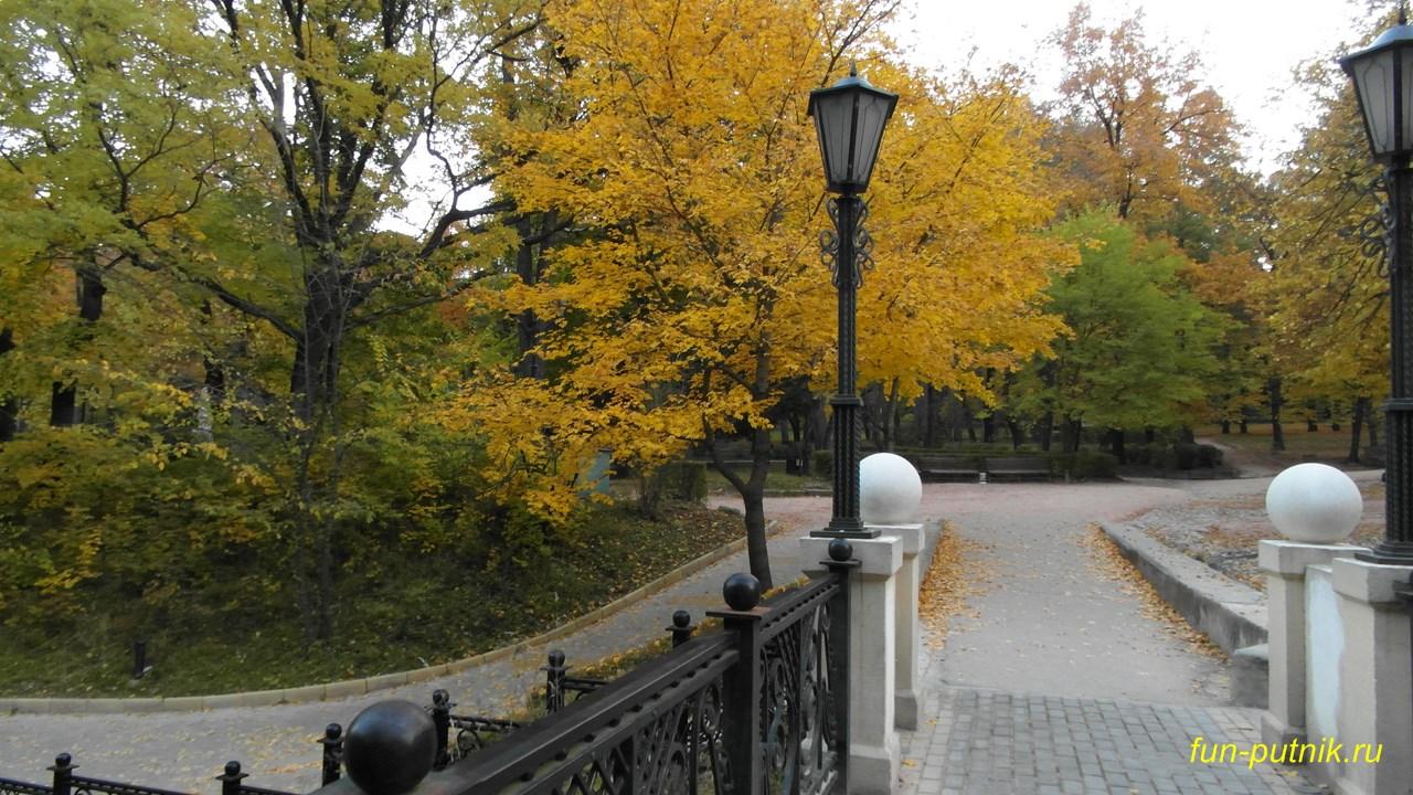 Прогулка по осеннему парку в Кисловодске