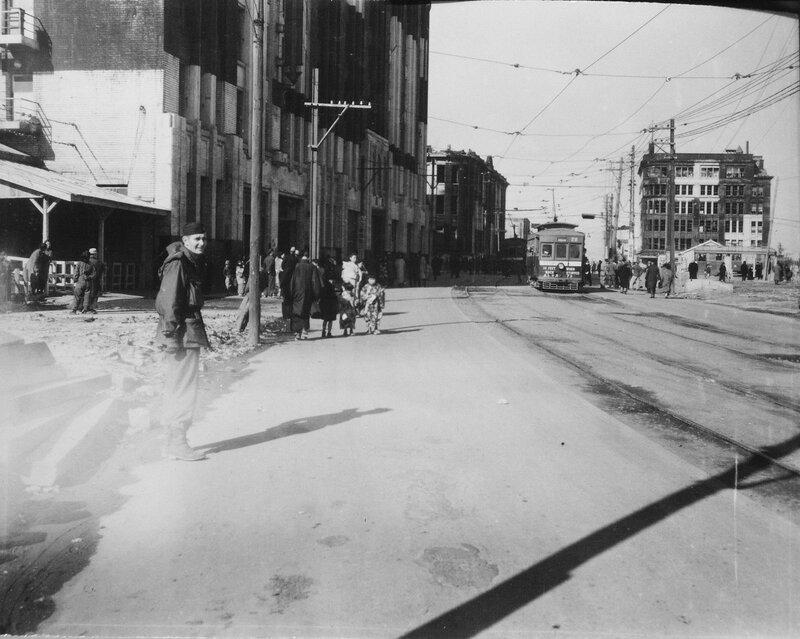 Fukuoka Street scene, Jan 1, 1946