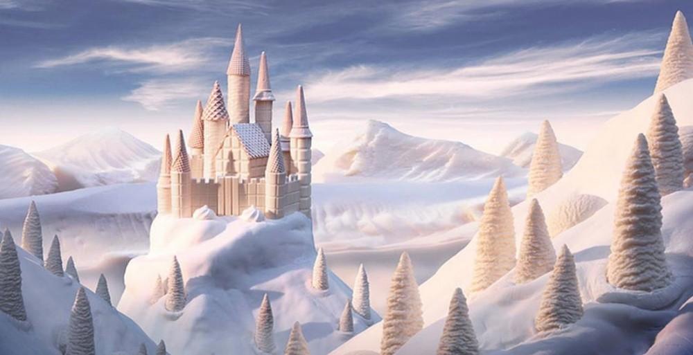 13. Замок из белого шоколада
