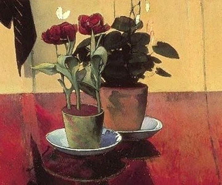 Emile Bernard (French Symbolist Painter, 1868-1941) Still Life with Flowers 1889.jpg