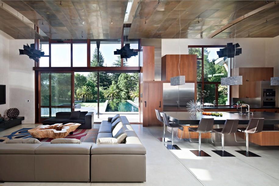Saratoga House в Калифорнии от WA Design