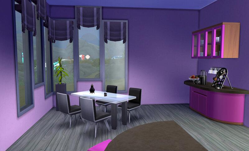 Kitchen Moody Aubergine by ihelen