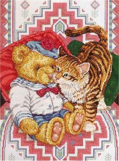 Котёнок и мишка