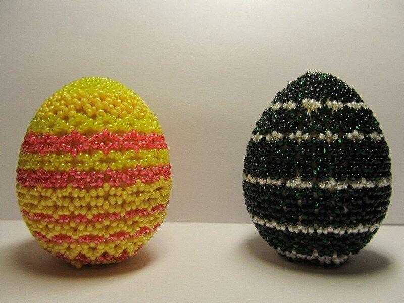 Деревянные заготовки оплела. пасхальное. бисер. яйцо.  Ажурное плетение. бисероплетение.