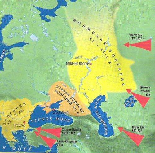 Карта Булгарии