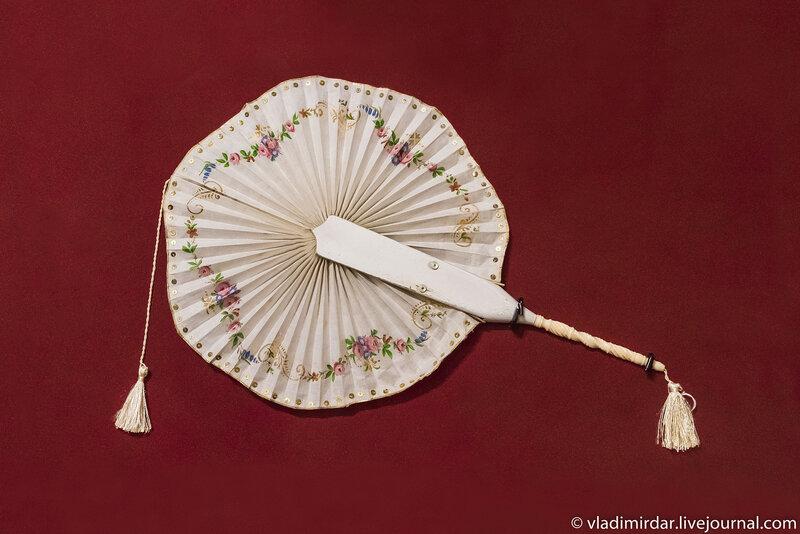 Веер cockade (веер-кокарда). Западная Европа. Вторая половина XIX века.