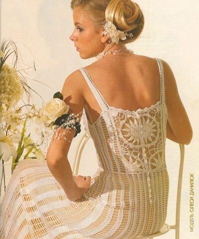 Фотографии: вязанные свадебные платья