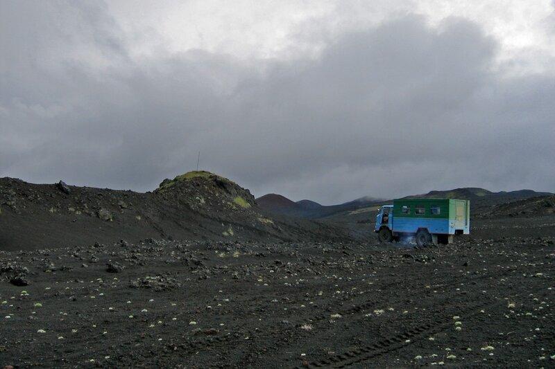 База луноходчиков, Толбачик, Камчатка