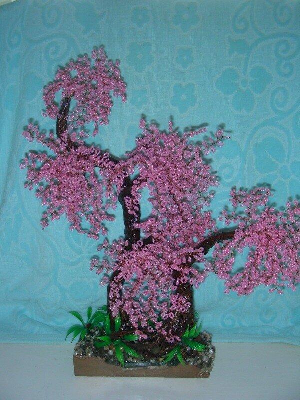 Дерево из бисера - Сакура - Пышная красавица.