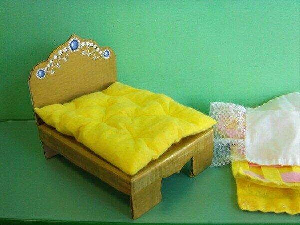 Для куклы барби кровать своими руками фото 726