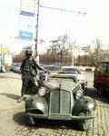 Памятник Ю.В.Никулину у старого цирка на Цветном бульваре