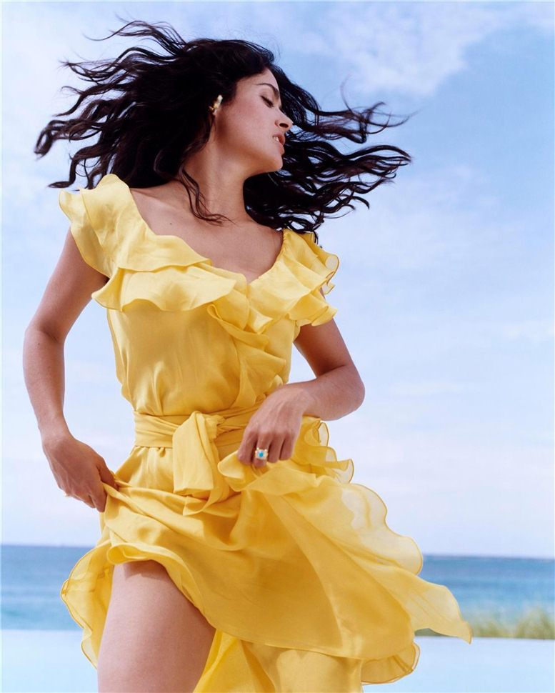 модель Сальма Хайек / Salma Hayek, фотограф John Huba