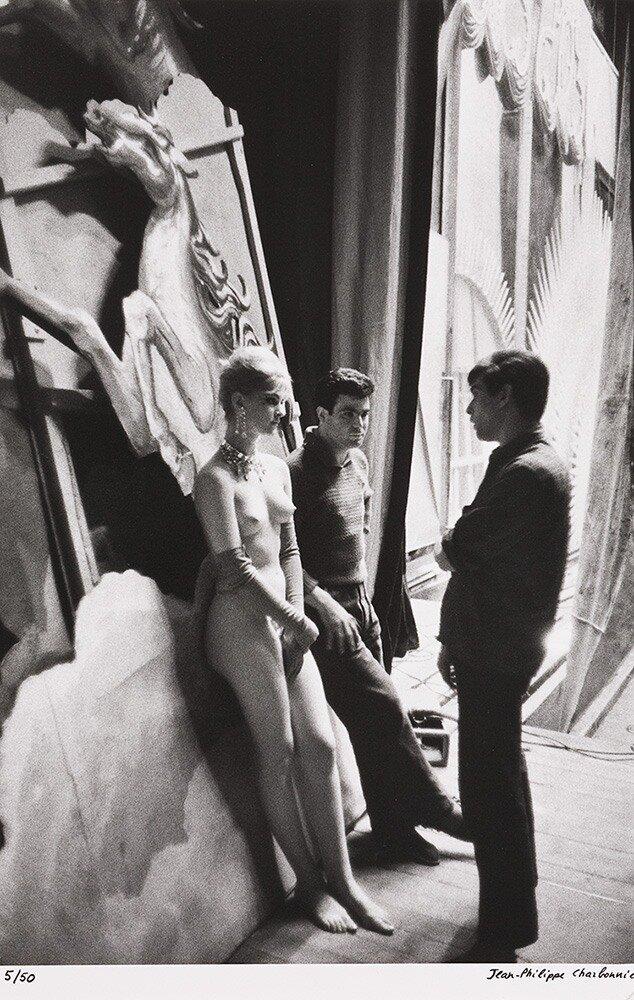 Жан-Филипп Шарбонье. За сценой на Бержер Фоли. Париж. 1960