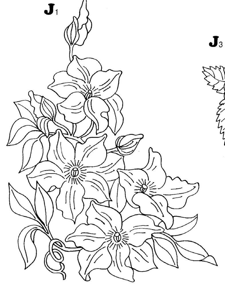 Картинки для витражных красок цветы 7