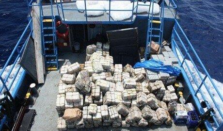 Судно под молдавским флагом перевозило 2 тонны кокаина