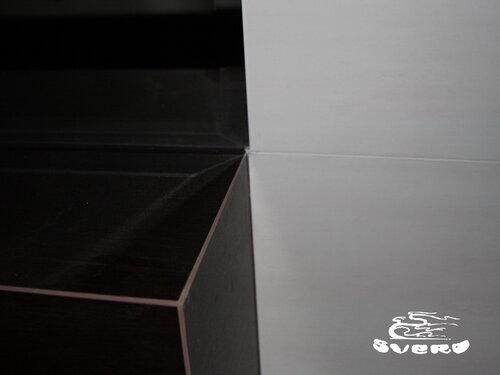 облицовка наружная, подрезка плитки по угол 45 градусов