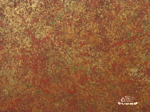 декоративная штукатурка красно-золотая