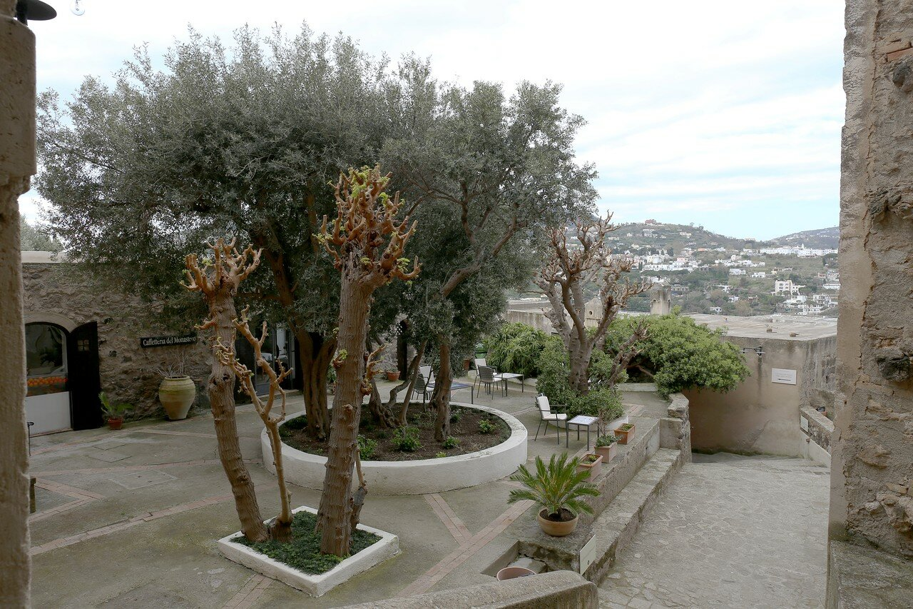 Ischia. Aragonese castle. Terrace of the Immaculate conception