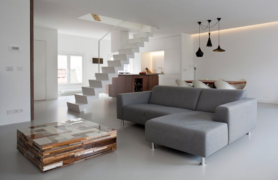 Двухэтажные апартаменты в Амстердаме от Laura Alvarez