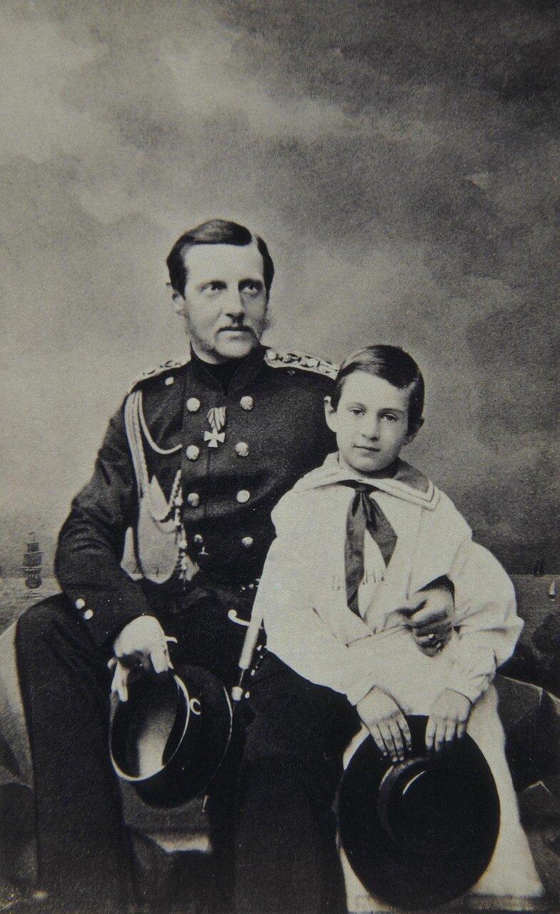 Портрет великого князя Константина Николаевича с сыном Константином