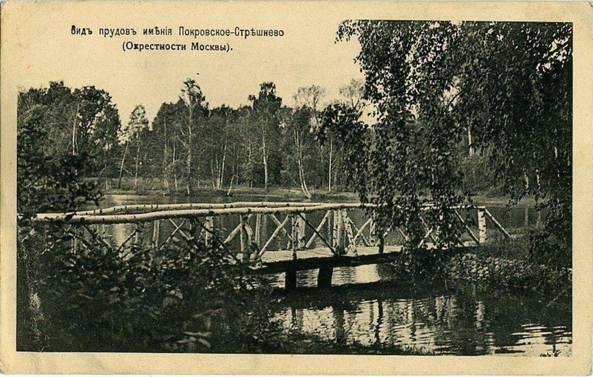 Окрестности Москвы. Покровское-Стрешнево. Вид прудов имения