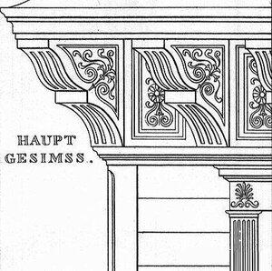 Охотничий домик, архитектор Карл Фридрих Шинкель, деталь