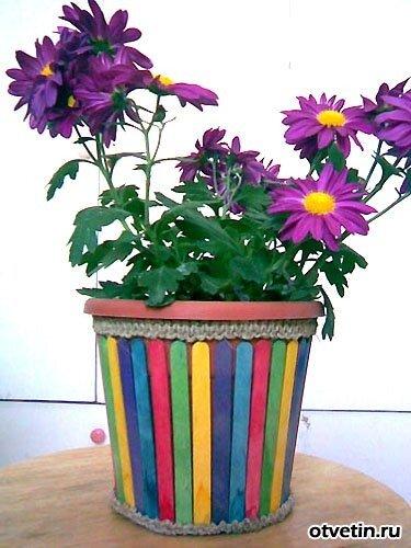 как украсить цветочный горшок. kak-ukrasit-cvetochnyj-gorshok.