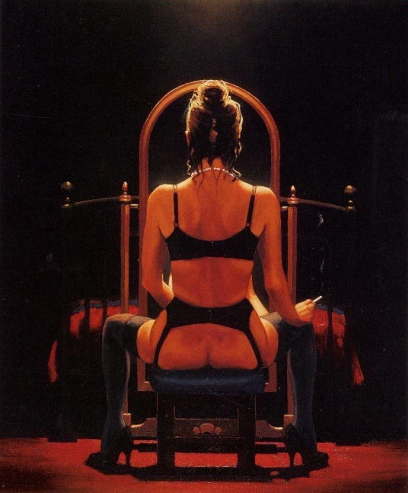 Mirror,Mirror, by Jack Vettriano