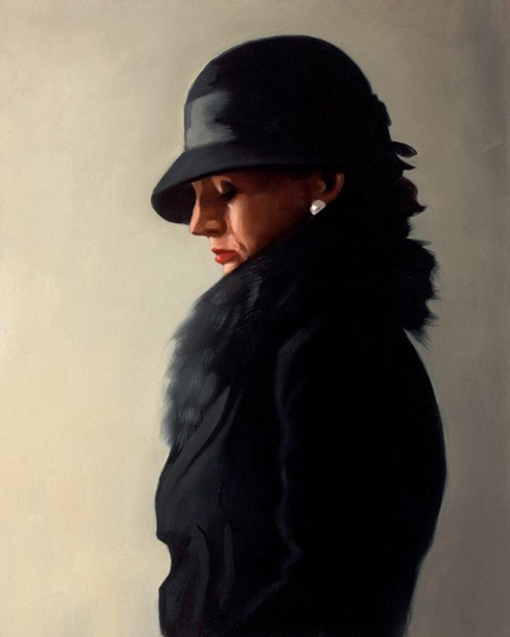 Portrait in Black and Pearl, by Jack Vettriano