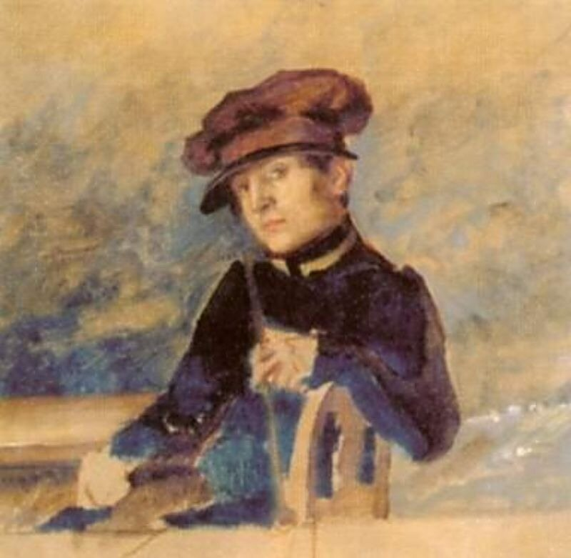Иванов, Александр Андреевич. Автопортрет.  1828г.