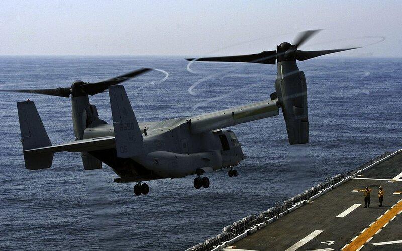 В резерве морской пехоты США создали первую эскадрилью MV-22 Osprey
