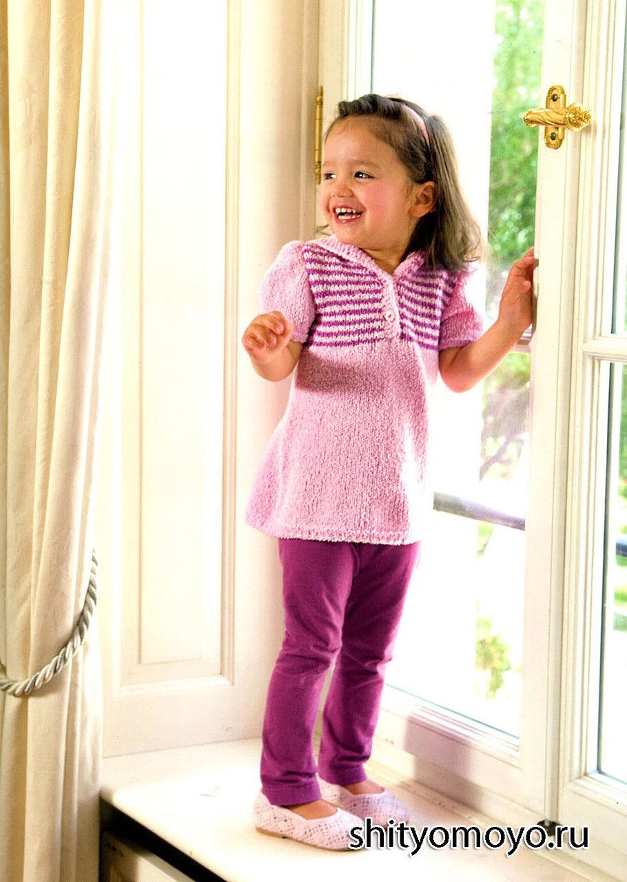 Вязание для девочек 2-3 года спицами туника