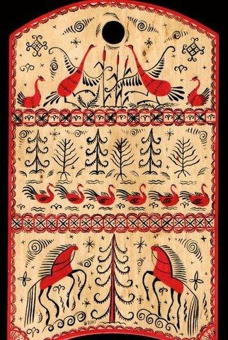 Русские народные росписи: мезенская, городецкая, жостовская, хохломская Искусство