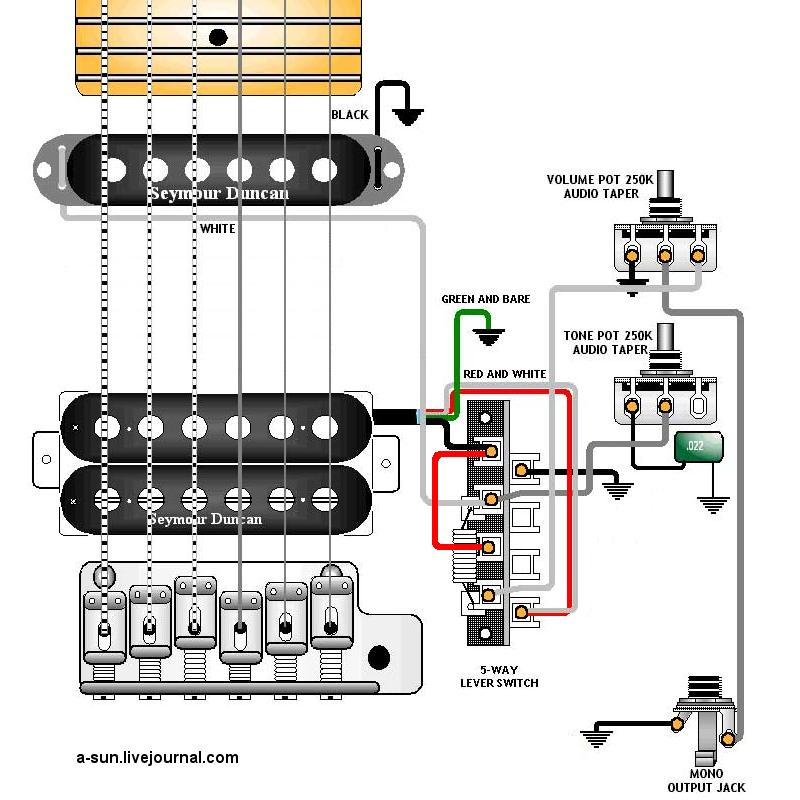 На этот раз мы углубимся в понятие распайки гитары. к гнезду, как на рисунке ниже, мы подключим к схеме регулятор...