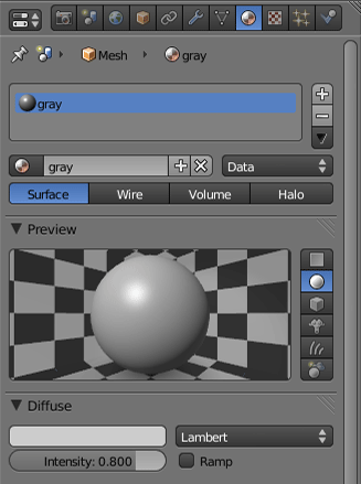 blender multiple material