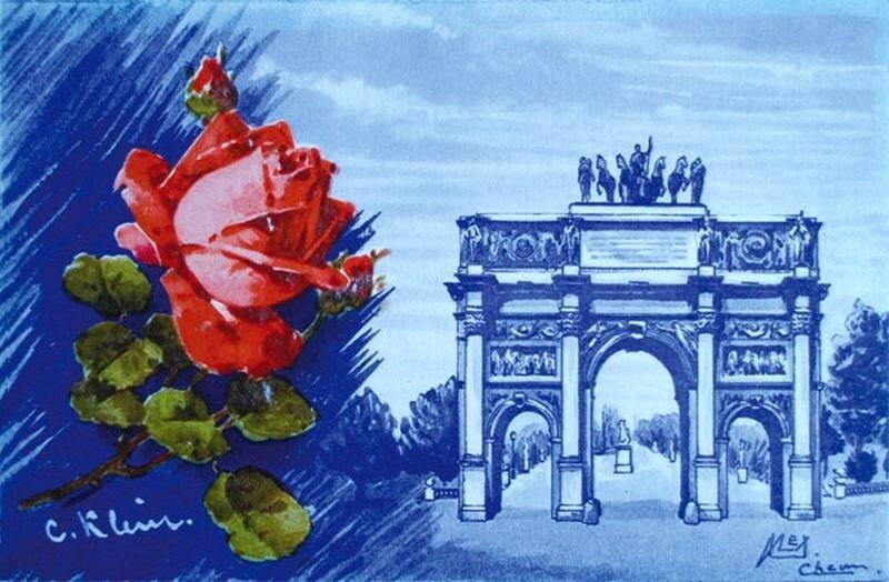 К. Кляйн. Роза и городской пейзаж. Catharina Klein.