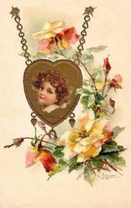 К. Кляйн. Розы и сердце.